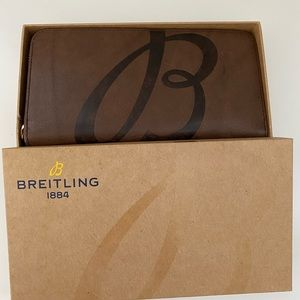 Breitling brown leather wallet